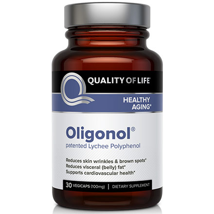 Oligonol, Patented Lychee Polyphenol, 30 Vegicaps, Quality of Life Labs