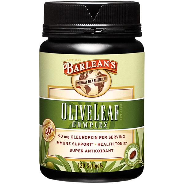 Olive Leaf Complex, 120 Softgels, Barleans Organic Oils