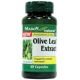 Olive Leaf Extract, 60 Capsules, Mason Natural