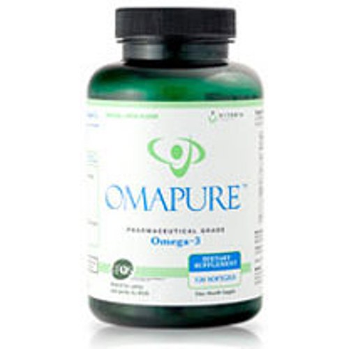 OMAPURE Omega-3, Ultra Pure Fish Oil, 120 Softgels