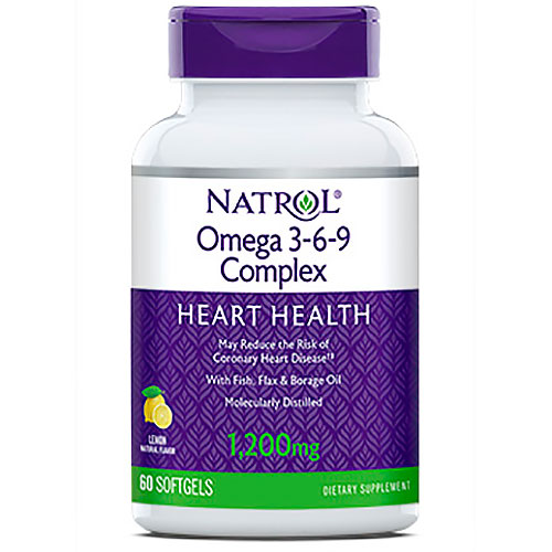 Omega 3-6-9 60 Softgels; Natrol