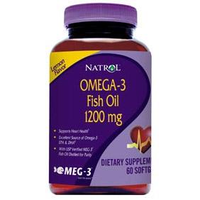 Omega-3 Fish Oil 1200 mg, 60 Softgels, Natrol
