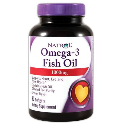 Omega-3 Fish Oil 1000 mg, Lemon Flavor, 90 Softgels, Natrol