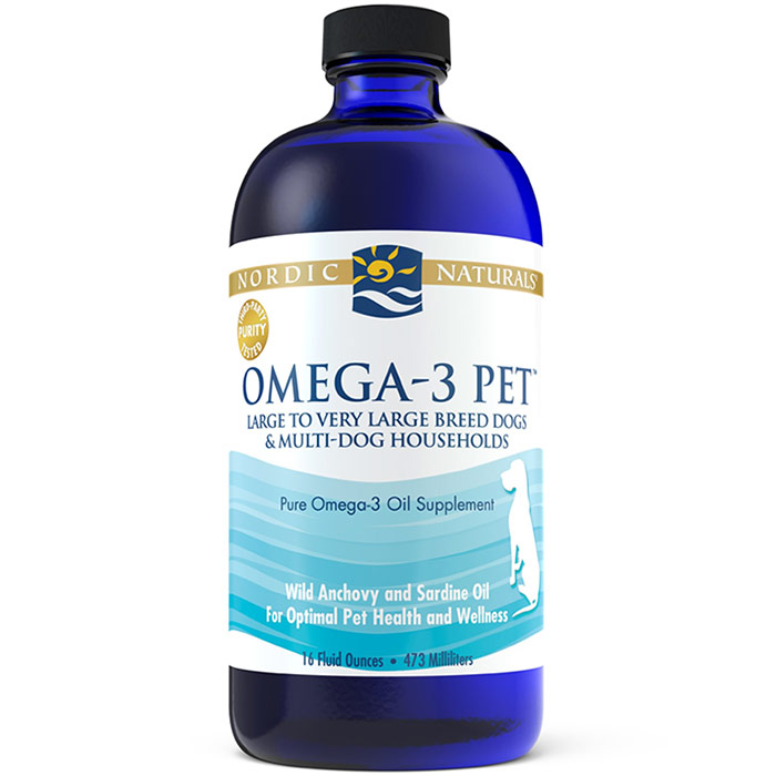 Omega-3 Pet Liquid Fish Oil, Large to Very Large Breed Dogs & Multi-Dog Households, 16 oz, Nordic Naturals