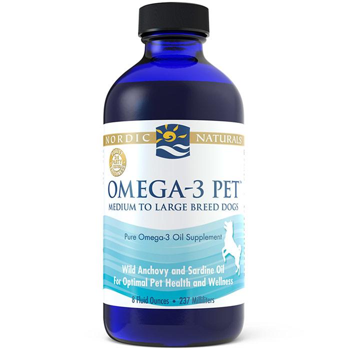 Omega-3 Pet Liquid Fish Oil, Medium to Large Breed Dogs, 8 oz, Nordic Naturals