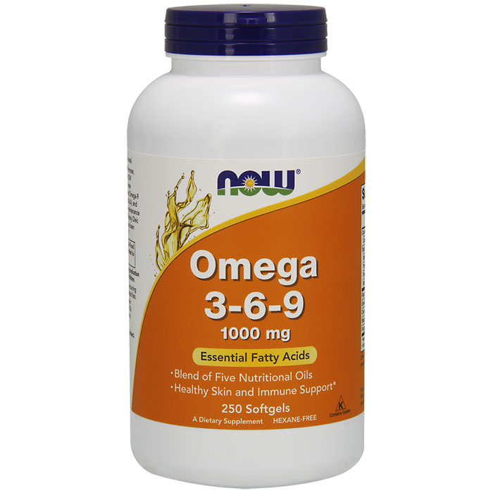 Omega 3-6-9 1000 mg, Value Size, 250 Softgels, NOW Foods