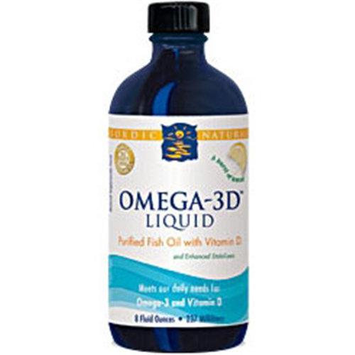 Omega-3D Liquid, Omega-3 plus Vitamin D, 8 oz, Nordic Naturals