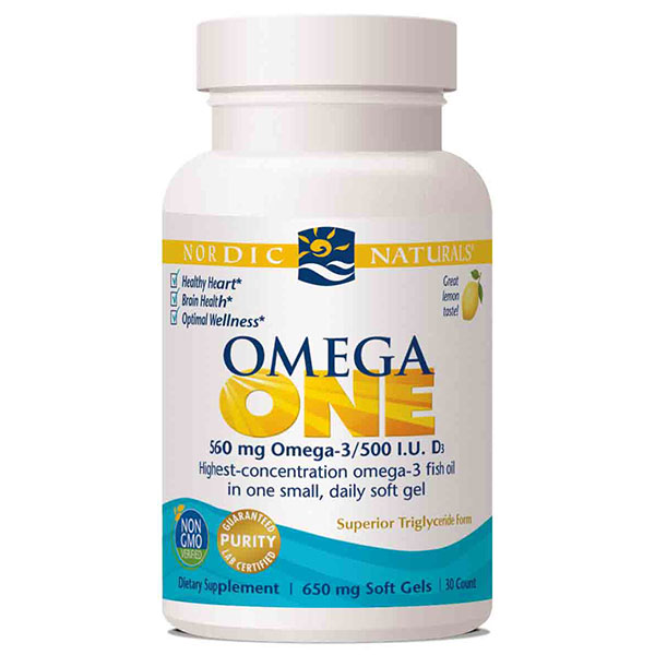Omega ONE, Highest Concentration Fish Oil - Lemon, 30 Softgels, Nordic Naturals