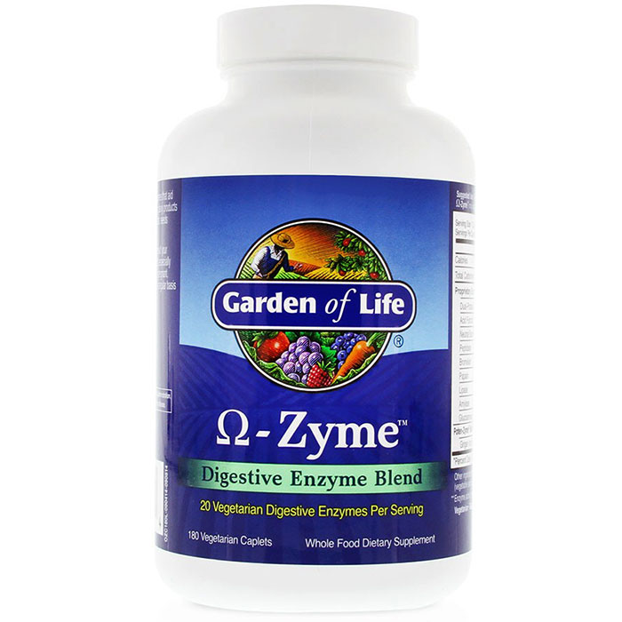 Omega-Zyme (O-Zyme), Value Size, 180 Caplets, Garden of Life