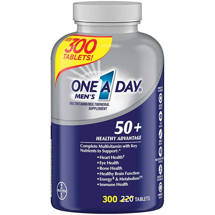 One-A-Day Mens 50+ Healthy Advantage, Multivitamin & Multimineral, 220 Tablets (One A Day)