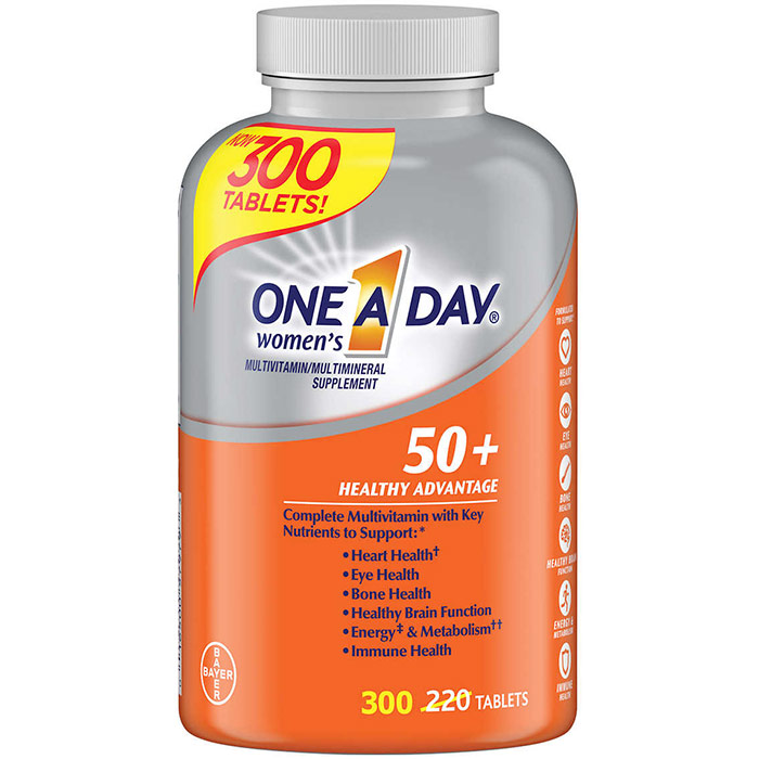 One-A-Day Womens 50+ Healthy Advantage, Multivitamin & Multimineral, 220 Tablets (One A Day)