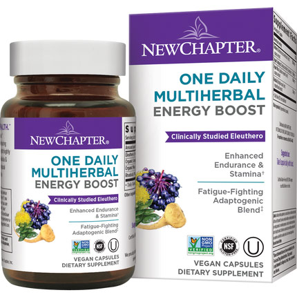 One Daily Multi Herbal Energy Boost, 30 Vegetarian Capsules, New Chapter