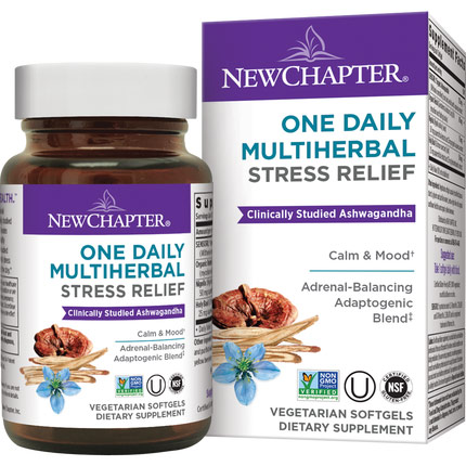 One Daily Multi Herbal Stress Relief, 30 Vegetarian Softgels, New Chapter