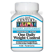 Buy One Daily Weight Control 100 Tablets, 21st Century