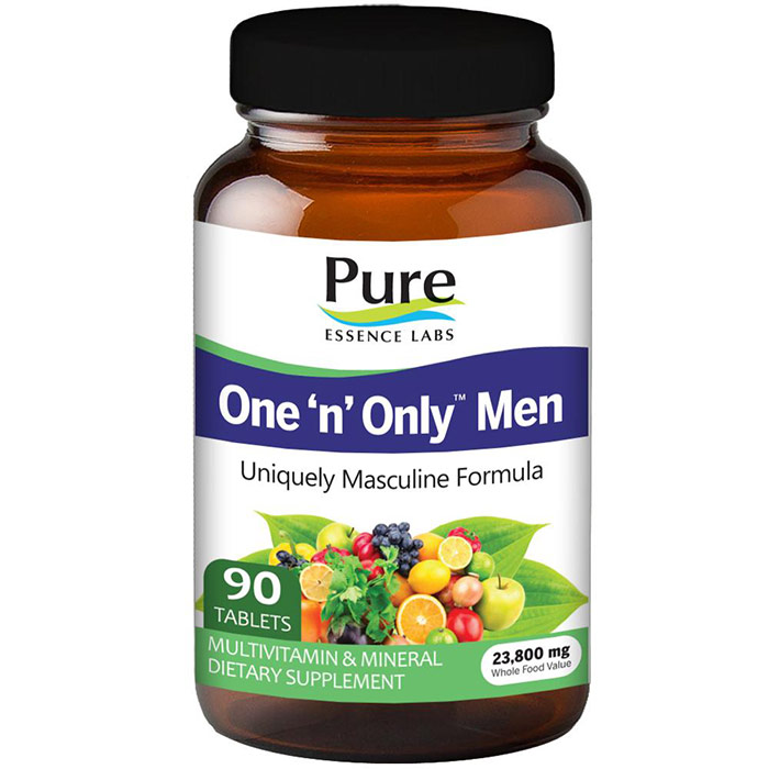 One n Only Mens Formula, Value Size, 90 Tablets, Pure Essence Labs