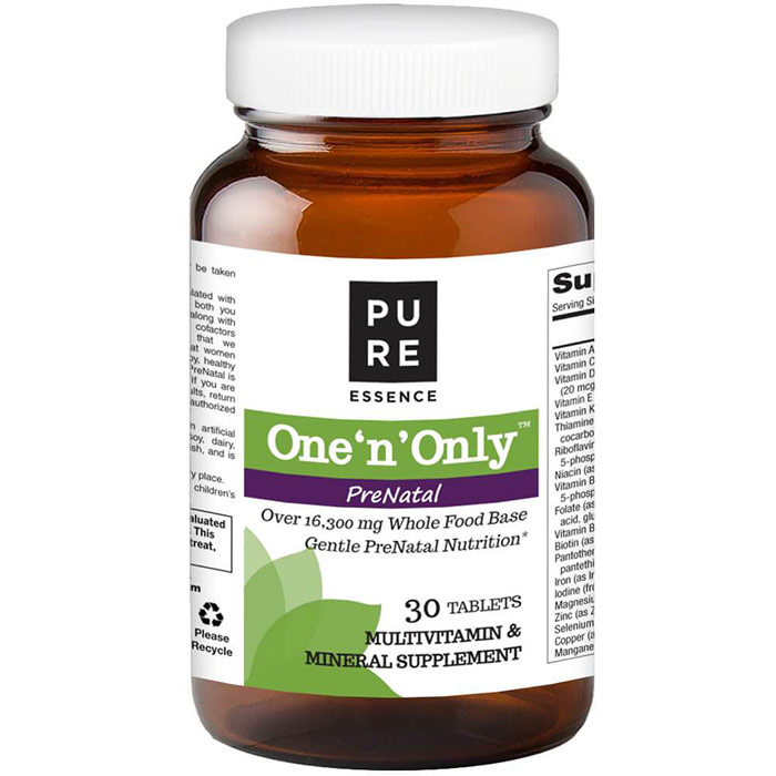 One n Only PreNatal, One A Day Multivitamin, 30 Tablets, Pure Essence Labs