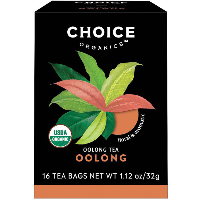 Oolong Tea, 16 Tea Bags, Choice Organic Teas