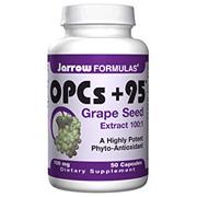 OPCs Plus 95, Grape Seed Extract 100 mg 50 caps, Jarrow Formulas