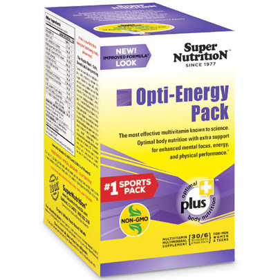 Opti-Energy Pack, Sports Multi Vitamins & Minerals, 30 Packets (6 Tablets Each), SuperNutrition