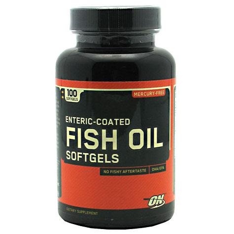 Optimum Nutrition Fish Oil Enteric Coated, 100 Softgels