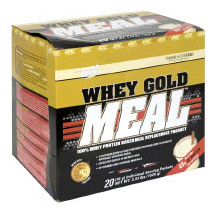 Optimum Nutrition ON Whey Gold Meal Meal Replacement, Vanilla, 20 Packets