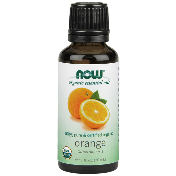 Orange Oil, Organic Essential Oil 1 oz, NOW Foods