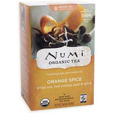 Orange Spice White Tea, 16 Tea Bags, Numi Tea