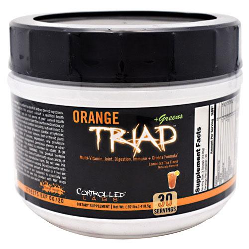 Orange Triad + Greens Powder, Multi-Vitamin Plus Greens, 30 Servings, Controlled Labs