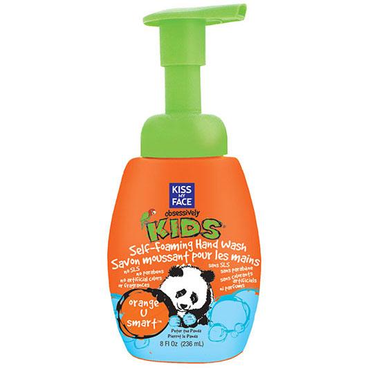 Obsessively Natural Kids Self-Foaming Hand Wash - Orange U Smart, 8 oz, Kiss My Face
