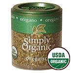 Oregano Leaf Cut & Sifted, Mini Spice, 0.07 oz, Simply Organic