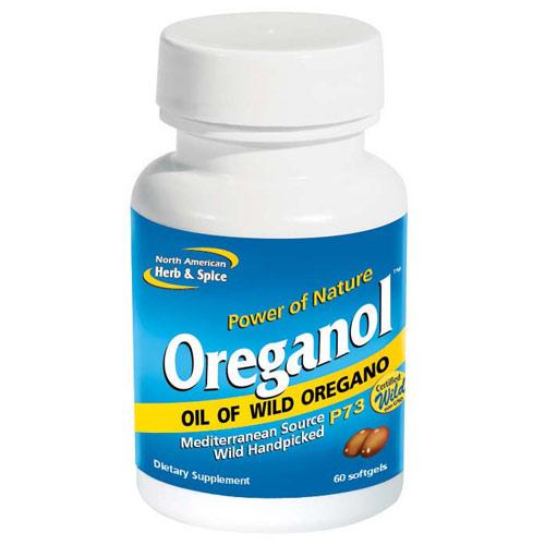 Oreganol P73 Original Wild Oregano, 60 Softgels, North American Herb & Spice