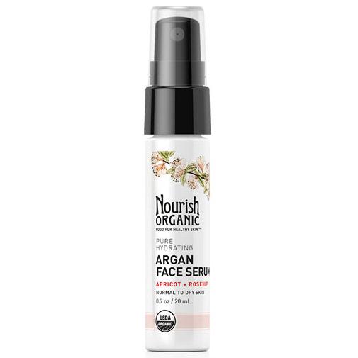 Pure Hydrating Organic Argan Face Serum, 0.7 oz, Nourish