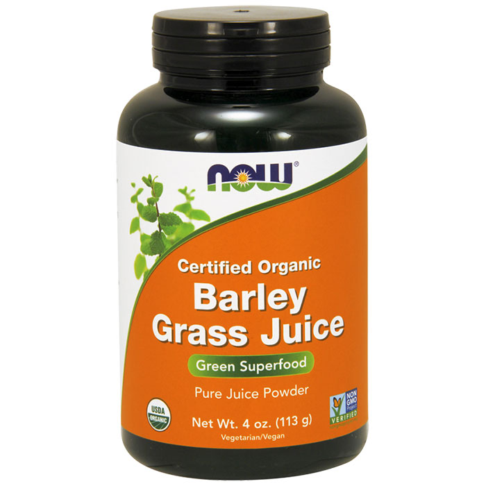 Organic Barley Grass Juice Powder, 4 oz, NOW Foods