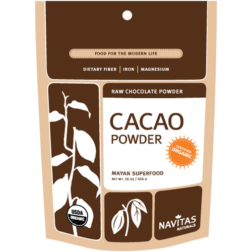 Organic Cacao Powder, Raw Chocolate Powder, 16 oz, Navitas Naturals