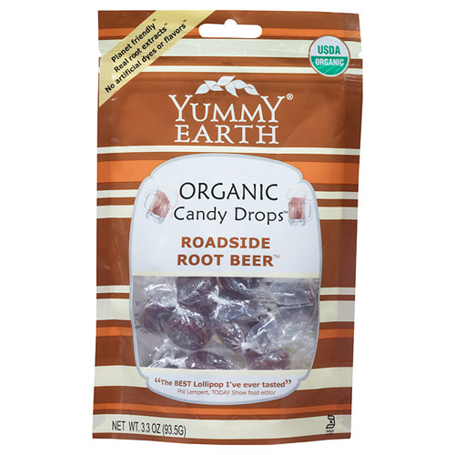 Organic Candy Drops Pouch, Roadside Root Beer, 3.3 oz x 6 Pouches, YummyEarth (Yummy Earth)