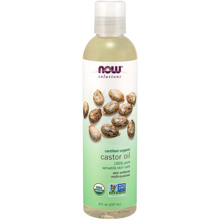 Organic Castor Oil, Skin Softener, 8 oz, NOW Foods