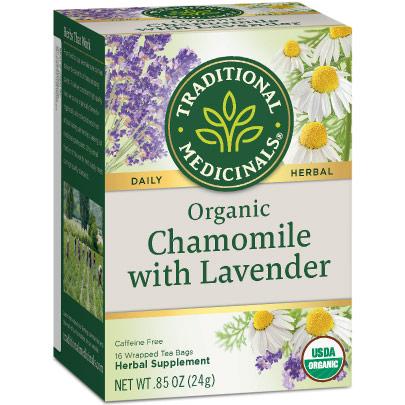 Organic Chamomile Lavender Tea 16 bags, Traditional Medicinals Teas