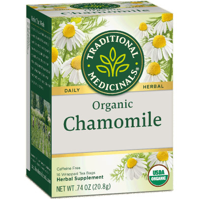 Organic Chamomile Tea 16 bags, Traditional Medicinals Teas