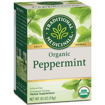 Organic Classic Peppermint Tea 16 bags, Traditional Medicinals Teas