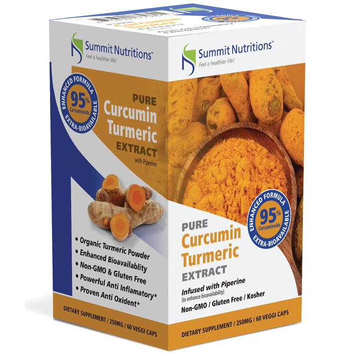 Organic Curcumin Turmeric Extract with 95% Curcuminoids, 60 Veggi Caps, Summit Nutritions