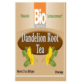 Organic Dandelion Root Tea, 30 Tea Bags, Bio Nutrition Inc.