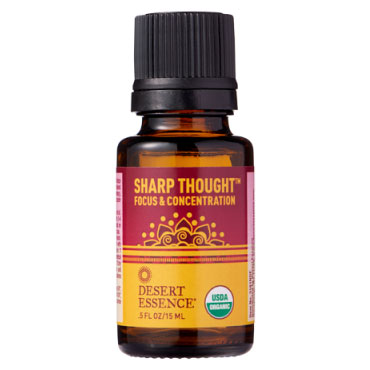 Organic Essential Oil Blend - Sharp Thought, 0.5 oz, Desert Essence