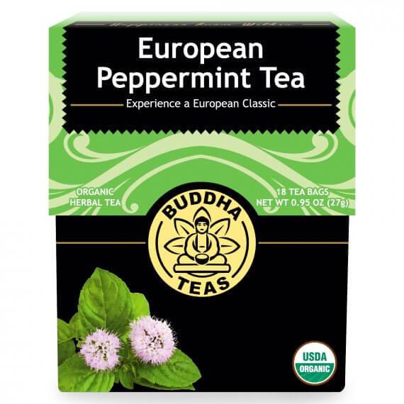 Organic European Peppermint Tea, 18 Tea Bags, Buddha Teas