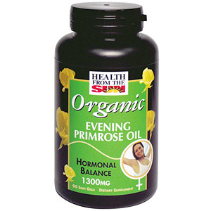 Organic Evening Primrose Oil 1300 mg, 60 softgels, Health From The Sun