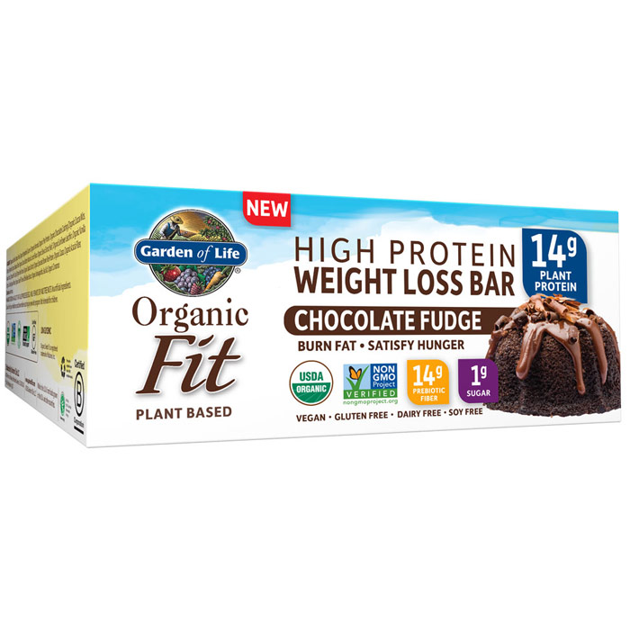 Organic Fit High Protein Weight Loss Bar, best protein bars, healthy protein bars, garden of life organic fit bar