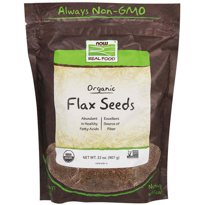 Organic Flax Seeds, 2 lb, NOW Foods