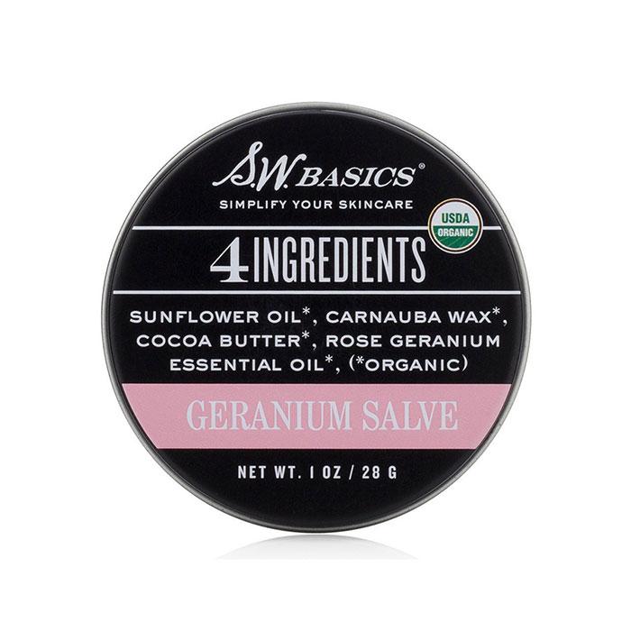 Organic Geranium Salve, 4 Ingredients, 1 oz, S.W. Basics