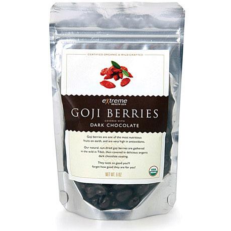 Organic Goji Berries - Dark Chocolate Covered, 16 oz, Extreme Health USA