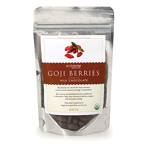 Organic Goji Berries - Milk Chocolate Covered, 1.8 oz, Extreme Health USA