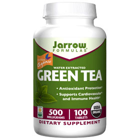 Organic Green Tea Extract 500 mg, 100 Tablets, Jarrow Formulas
